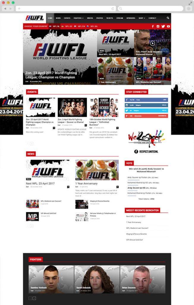 World Fighting League website